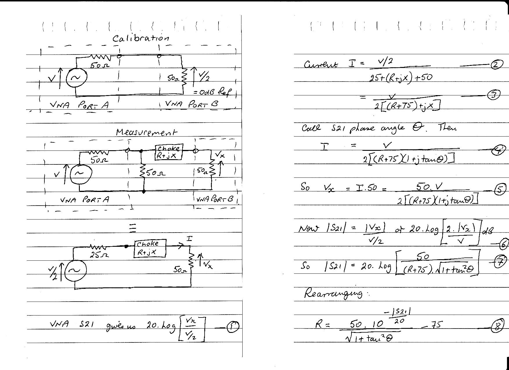 Measuring common mode choke Zcm using a two port VNA – owenduffy net